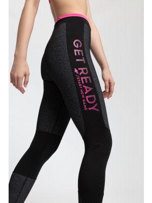 Women's active leggings SPDF203 - dark grey melange
