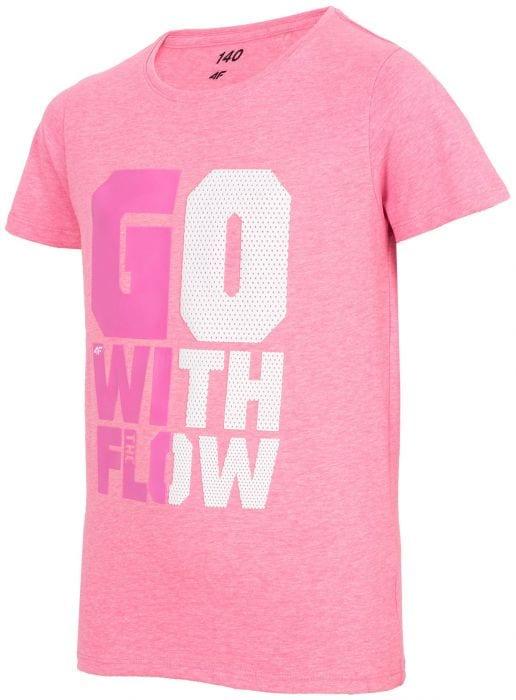 T-shirt for big girls JTSD213a - pink neon 4eb1879cb2686