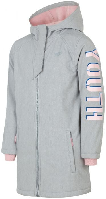 5fa093fbfb55 Softshell jacket for older children (girls) JSFD203 - grey melange