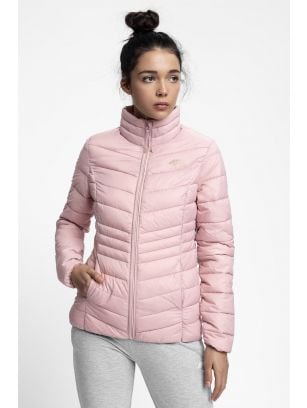 Women's down jacket KUDP210 - light pink