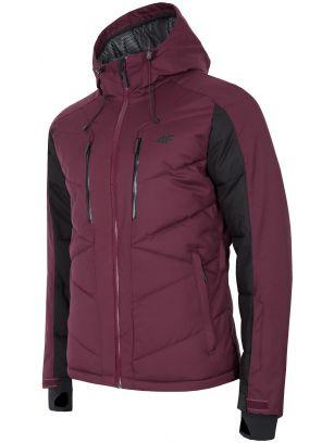 Men's ski jacket KUMN256 - burgundy