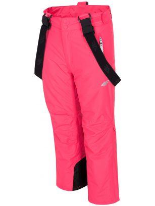 Ski pants for older children (girls) JSPDN401 - fuchsia