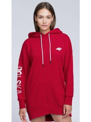 SPORTS FAN HOODIE FOR WOMEN BLD500 - RED