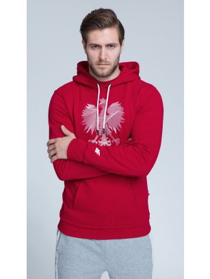 SPORTS FAN HOODIE FOR MEN BLM500 - RED