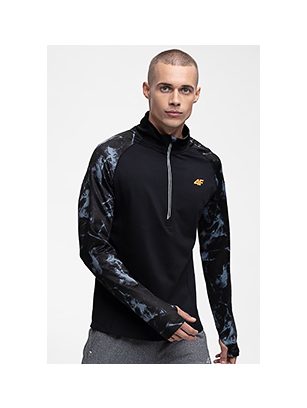 Men's active sweatshirt BLMF250 - black allover
