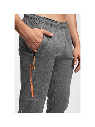 Men's active pants SPMTR201 - medium grey melange