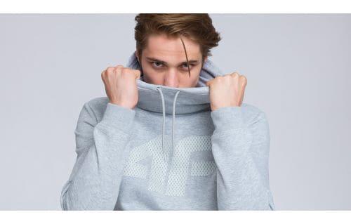 Men's hoodie blm002 - light gray