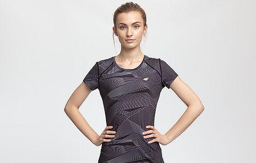 Women's active T-shirt TSDF205 - multicolor allover